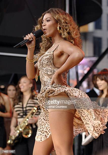 Beyonce at the Times Square in New York City New York