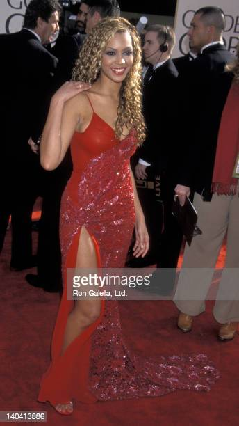 Beyonce attends 58th Annual Golden Globe Awards on January 21 2001 at the Beverly Hilton Hotel in Beverly Hills California