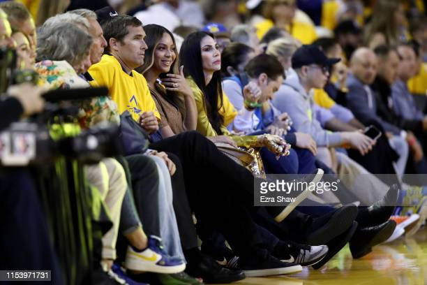 Beyonce attends Game Three of the 2019 NBA Finals between the Golden State Warriors and the Toronto Raptors at ORACLE Arena on June 05, 2019 in...