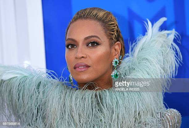 Beyonce attends the 2016 MTV Video Music Awards on August 28 2016 at Madison Square Garden in New York / AFP / Angela Weiss