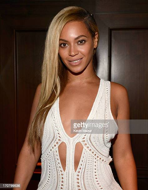 Beyonce attends The 40/40 Club 10 Year Anniversary Party at 40 / 40 Club on June 17 2013 in New York City