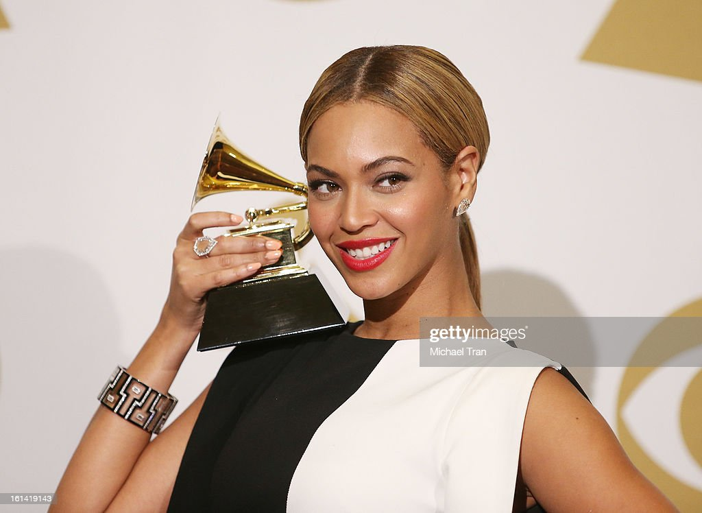Beyonce attends The 55th Annual GRAMMY Awards - press room held at Staples Center on February 10, 2013 in Los Angeles, California.