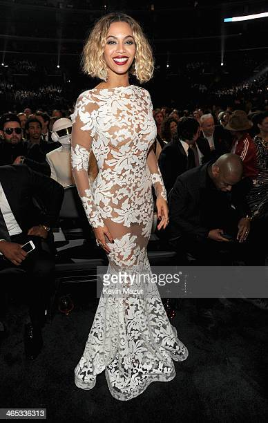 Beyonce attends the 56th GRAMMY Awards at Staples Center on January 26 2014 in Los Angeles California