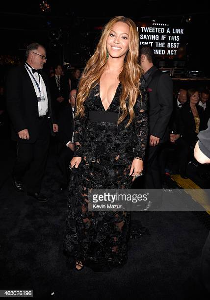 Beyonce attends The 57th Annual GRAMMY Awards at STAPLES Center on February 8 2015 in Los Angeles California