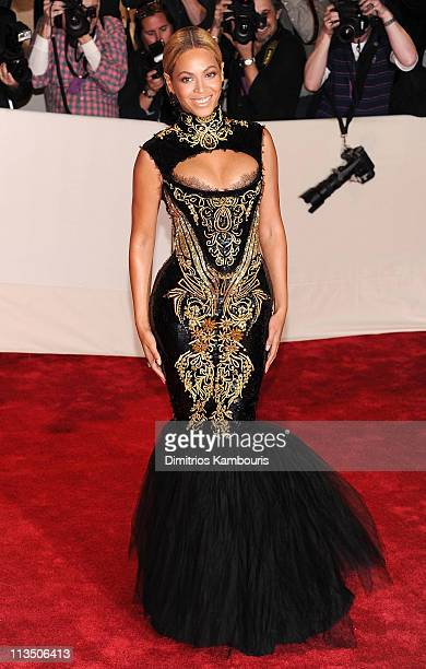 Beyonce attends the Alexander McQueen Savage Beauty Costume Institute Gala at The Metropolitan Museum of Art on May 2 2011 in New York City