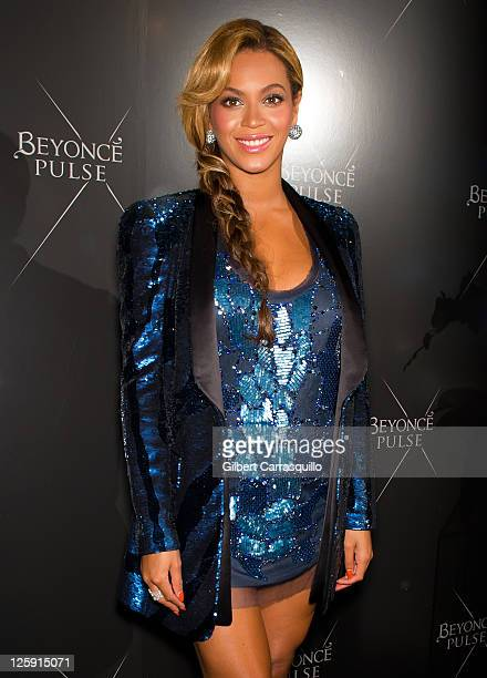 Beyonce attends the Beyonce Pulse fragrance launch at Penthouse at Dream Downtown on September 21 2011 in New York City