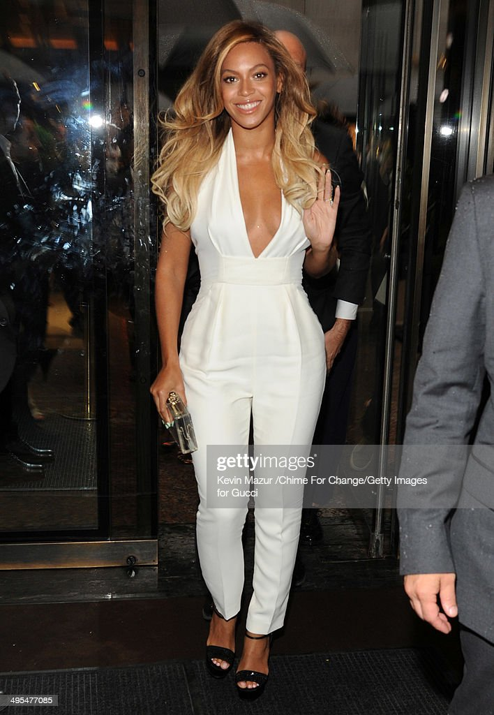 Beyonce attends the CHIME FOR CHANGE One-Year Anniversary Event hosted by Gucci Creative Director Frida Giannini and T Magazine Editor-In-Chief Deborah Needleman at Gucci Fifth Avenue on June 3, 2014 in New York City.