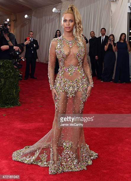 """Beyonce attends the """"China: Through The Looking Glass"""" Costume Institute Benefit Gala at the Metropolitan Museum of Art on May 4, 2015 in New York..."""