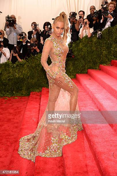 Beyonce attends the China Through The Looking Glass Costume Institute Benefit Gala at Metropolitan Museum of Art on May 4 2015 in New York City