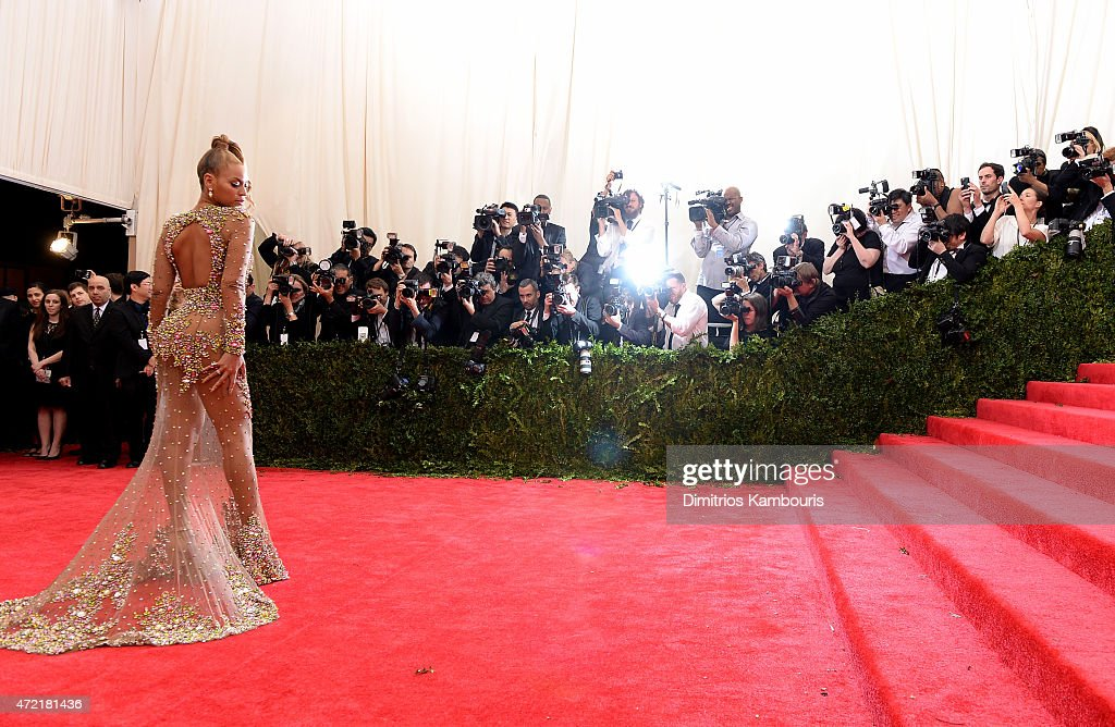 Beyonce attends the 'China: Through The Looking Glass' Costume Institute Benefit Gala at the Metropolitan Museum of Art on May 4, 2015 in New York City.