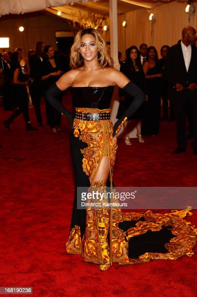 Beyonce attends the Costume Institute Gala for the 'PUNK Chaos to Couture' exhibition at the Metropolitan Museum of Art on May 6 2013 in New York City