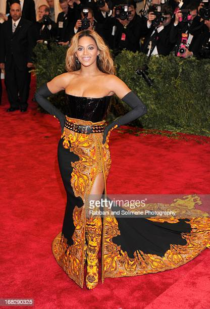 Beyonce attends the Costume Institute Gala for the PUNK Chaos to Couture exhibition at the Metropolitan Museum of Art on May 6 2013 in New York City