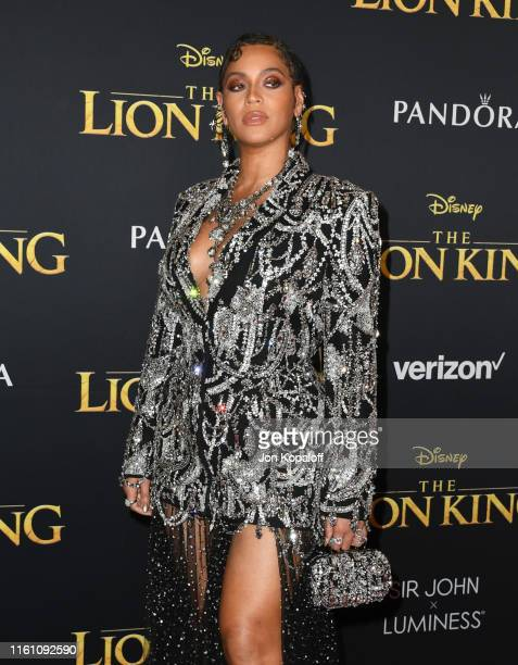"""Beyonce attends the Premiere Of Disney's """"The Lion King"""" at Dolby Theatre on July 09, 2019 in Hollywood, California."""