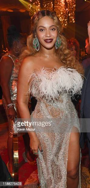 Beyonce attends the Shawn Carter Foundation Gala at the Seminole Ballroom in the Seminole Hard Rock Hotel Casino on November 16 2019 in Hollywood...
