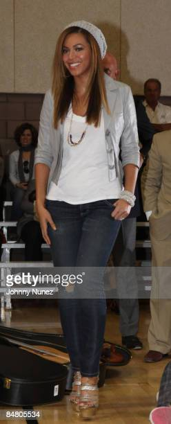 Beyonce attends the Sprite Green Instrument Donation on February 14 2009 in Mesa Arizona