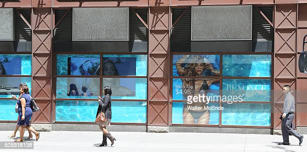Beyonce Billboard illustrating her New HM Ad Campaign in Times Square New York on 5/28/2013The breezy campaign's filled with bikinis beachready items...