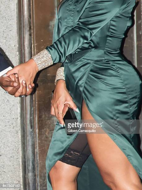 Beyonce detail is seen leaving Rihanna's 3rd Annual Diamond Ball Benefitting The Clara Lionel Foundation at Cipriani Wall Street on September 14 2017...