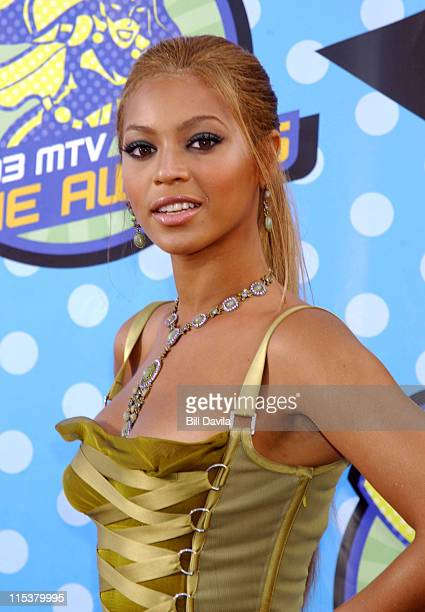 Beyonce during 2003 MTV Movie Awards Arrivals at The Shrine Auditorium in Los Angeles California United States