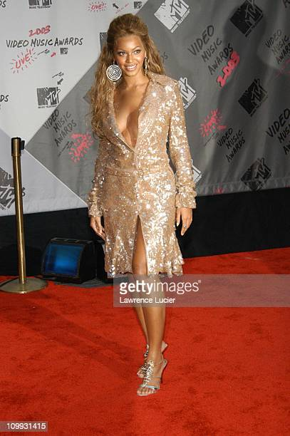 Beyonce during 2003 MTV Video Music Awards Arrivals at Radio City Music Hall in New York City New York United States