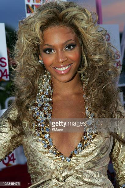 Beyonce during 2004 MTV Video Music Awards Red Carpet at American Airlines Arena in Miami Florida United States