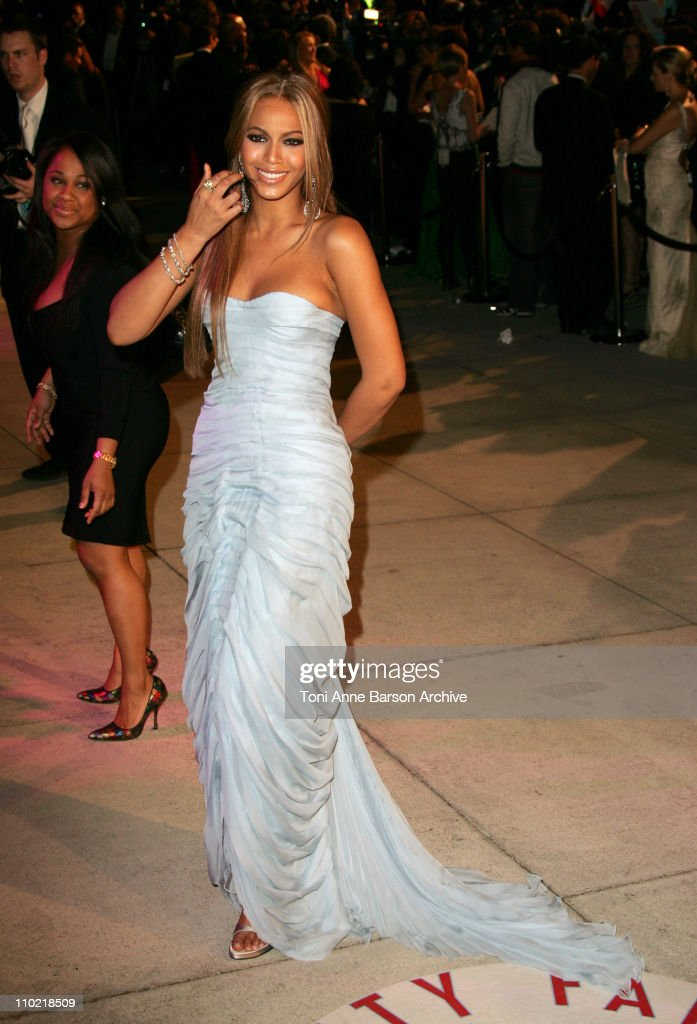 Beyonce during 2005 Vanity Fair Oscar Party - Arrivals at Mortons in Los Angeles, California, United States.