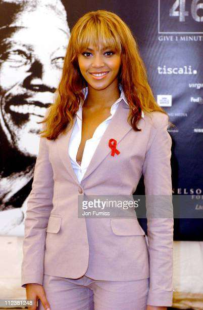 Beyonce during 46664 Give 1 Minute Of Your Life To AIDS Concert Press Room at Greenpoint Stadium in Cape Town Western Cape South Africa