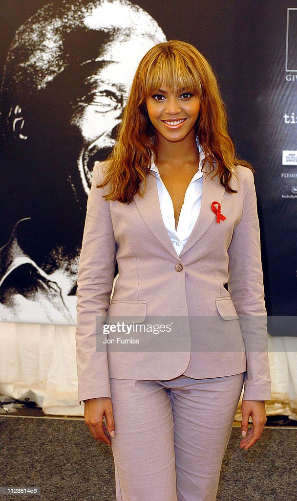 Beyonce during '46664: Give 1 Minute Of Your Life To AIDS' Concert - Press Room at Greenpoint Stadium in Cape Town, Western Cape, South Africa.