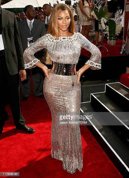 Beyonce during BET Awards 2007 - Arrivals at Shrine Auditorium in Los Angeles, California, United States.
