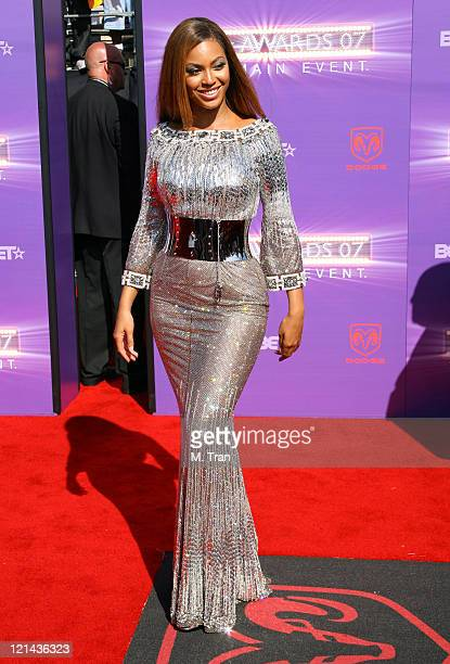 Beyonce during BET Awards 2007 Arrivals at Shrine Auditorium in Los Angeles California United States