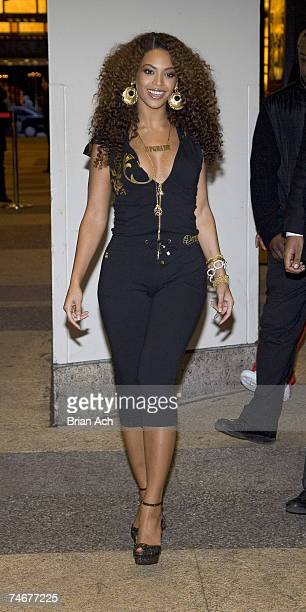 Beyonce during Beyonce Departs MTV's TRL February 28 2007 at the Outside MTV Studios in New York City New York