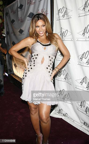 Beyonce during Beyonce's Birthday and Record Release Party for Her New Album 'BDay' Arrivals
