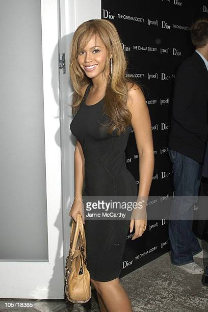 Beyonce during Dior and The Cinema Society Present Proof at 165 Charles Street in New York City New York United States