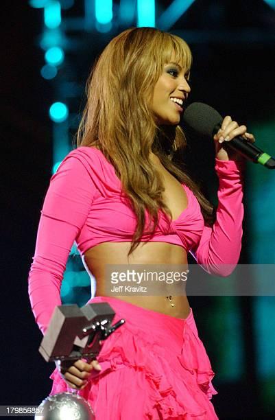 Beyonce during MTV Europe Music Awards 2003 Show at Ocean Terminal Arena in Edinburgh Scotland