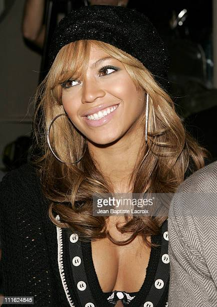Beyonce during Paris Fashion Week Pret a Porter Spring/Summer 2006 Agent Provocateur 'Box of Tricks' After Party at Printemps in Paris France