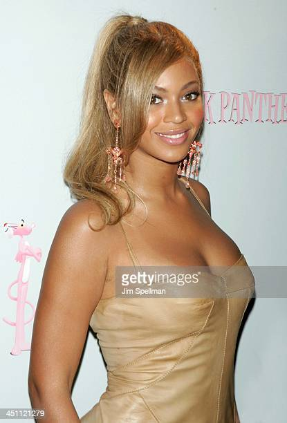 Beyonce during Production Begins on the New Pink Panther Press Conference at WaldorfAstoria in New York City New York United States