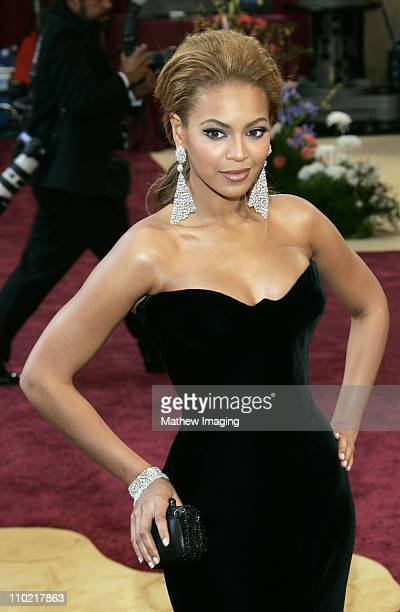 Beyonce during The 77th Annual Academy Awards ET Platform at Kodak Theatre in Los Angeles California United States