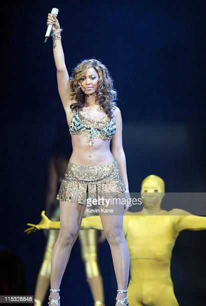 """Beyonce during The Verizon Ladies First Tour Starring Beyonce, Alicia Keys and Missy """"Misdemeanor"""" Elliott at Nassau Coliseum in Uniondale, New York,..."""