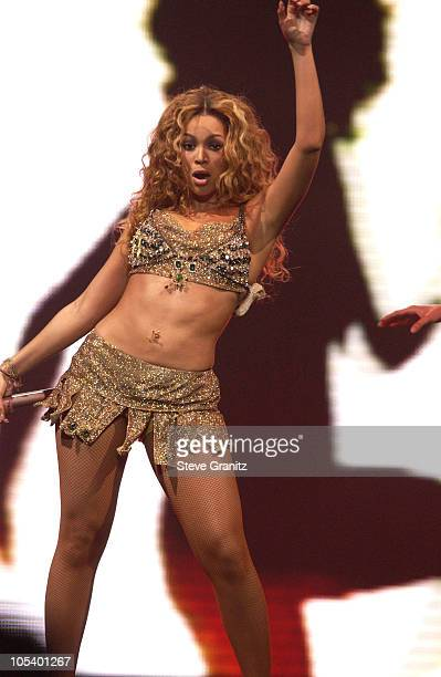 Beyonce during Verizon's Ladies First Tour in Anaheim April 21 2004 at Anaheim Pond in Anaheim California United States