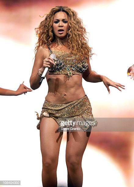 Beyonce during Verizon's Ladies First Tour in Anaheim April 21 2004 at Anaheim Pond in Anaheim California United States