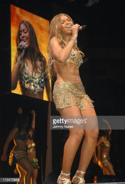 Beyonce during Verizon's Ladies First Tour in New York April 12th 2004 at Madison Square Garden in New York City New York United States