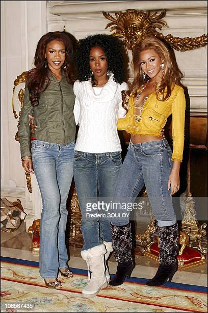 Beyonce in Paris France on November 12th 2004