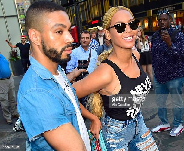 Beyonce is seen in Midtown on May 11, 2015 in New York City.
