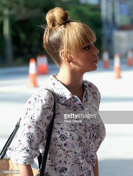 Beyonce is sighted in South Beach on December 9 2012 in Miami Beach Florida