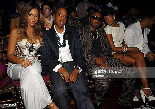 Beyonce JayZ Nas and Kelis during 2006 MTV Video Music Awards Audience and Backstage at Radio City Music Hall in New York City New York United States