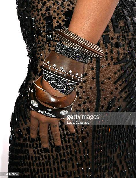 Beyonce jewelry detail attends TIDAL X 1015 at Barclays Center on October 15 2016 in New York City