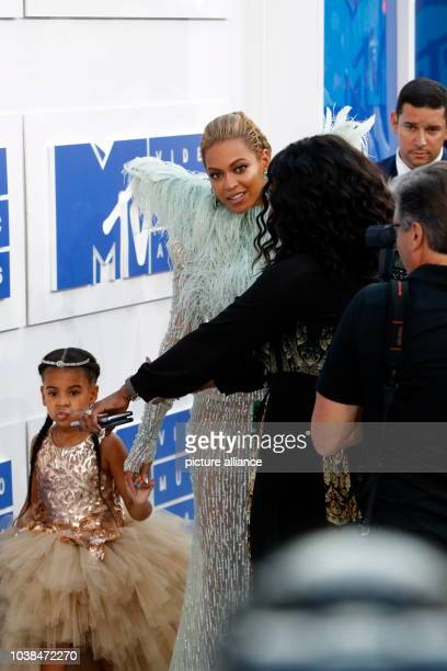 Beyonce Knowles and daughter Blue Ivy attend the MTV Video Music Awards, VMAs, at Madison Square Garden in New York City, USA, on 28 August 2016....