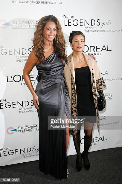Beyonce Knowles and Eva Longoria attend L'OREAL Legends Gala Benefiting The Ovarian Cancer Research Fund at The American Museum Of Natural History on...