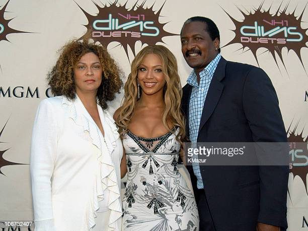 Beyonce Knowles and her parents Tina Knowles and Mathew Knowles
