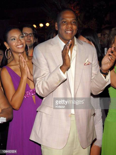 Beyonce Knowles and Jay Z during Antonio 'LA' Reid's 50th Birthday Party Inside at Nobu 57th Street in New York New York United States