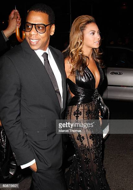Beyonce Knowles and JayZ attend the New York premiere of the movie ' Cadillac Records' at AMC Loews 19 on December 1 2008 in New York City